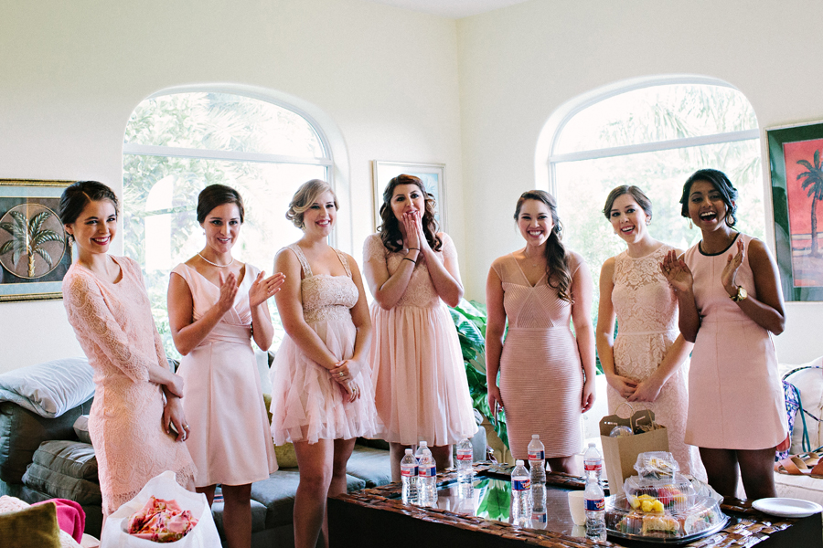 bridemaids first look
