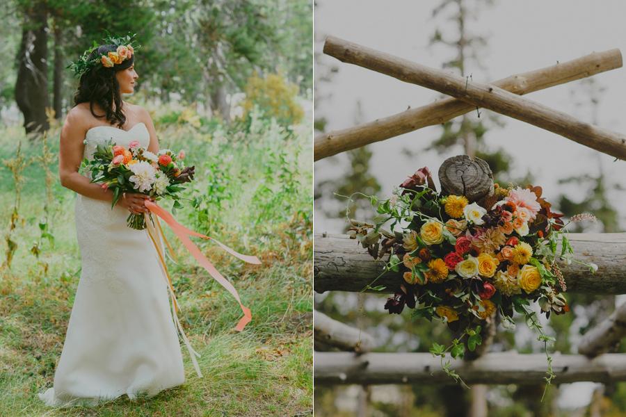 thistle and honey wedding flowers