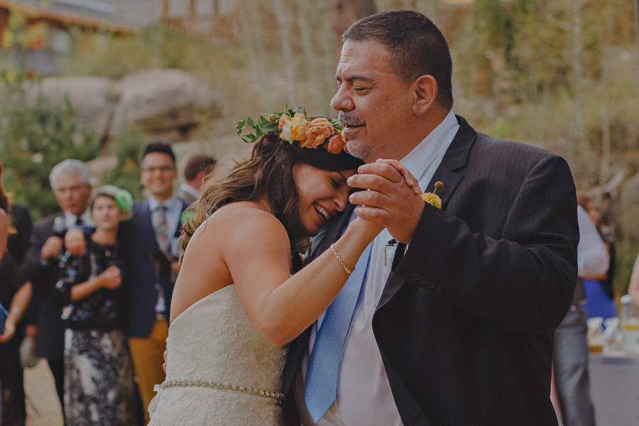 emotional father and bride dance