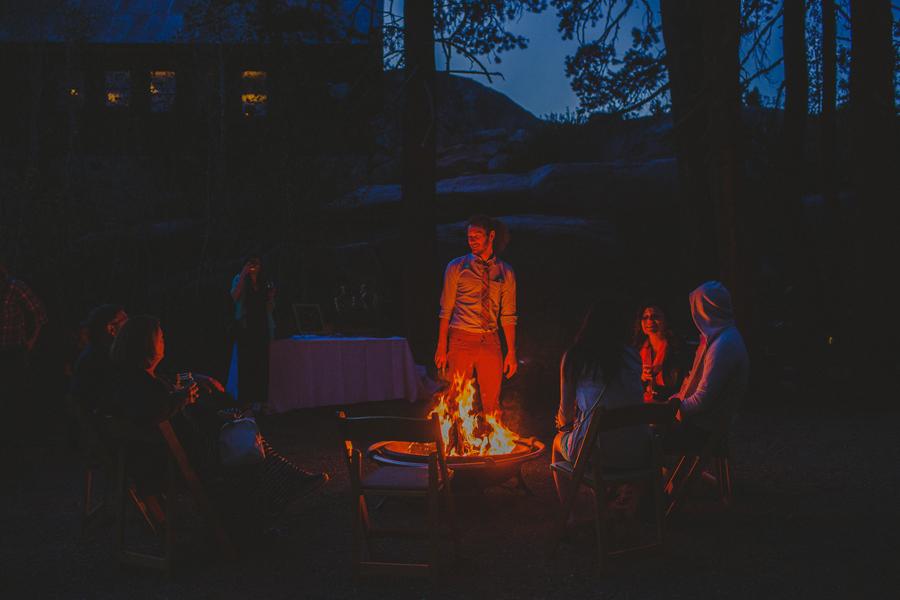 campfire at weddings