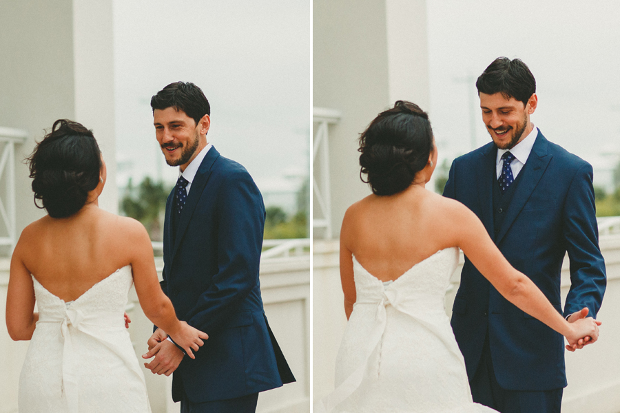sweet first look spi wedding