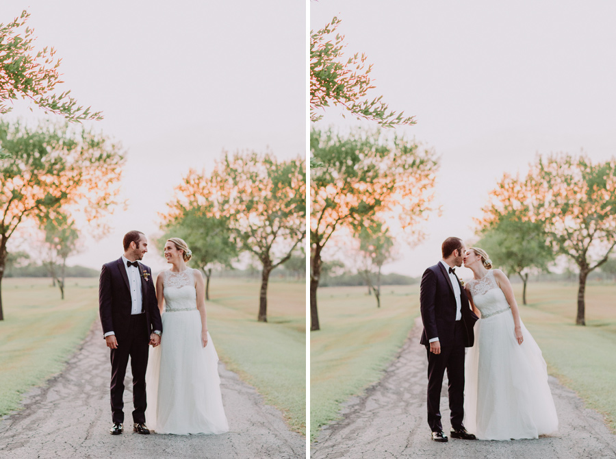 hill country wedding portraits